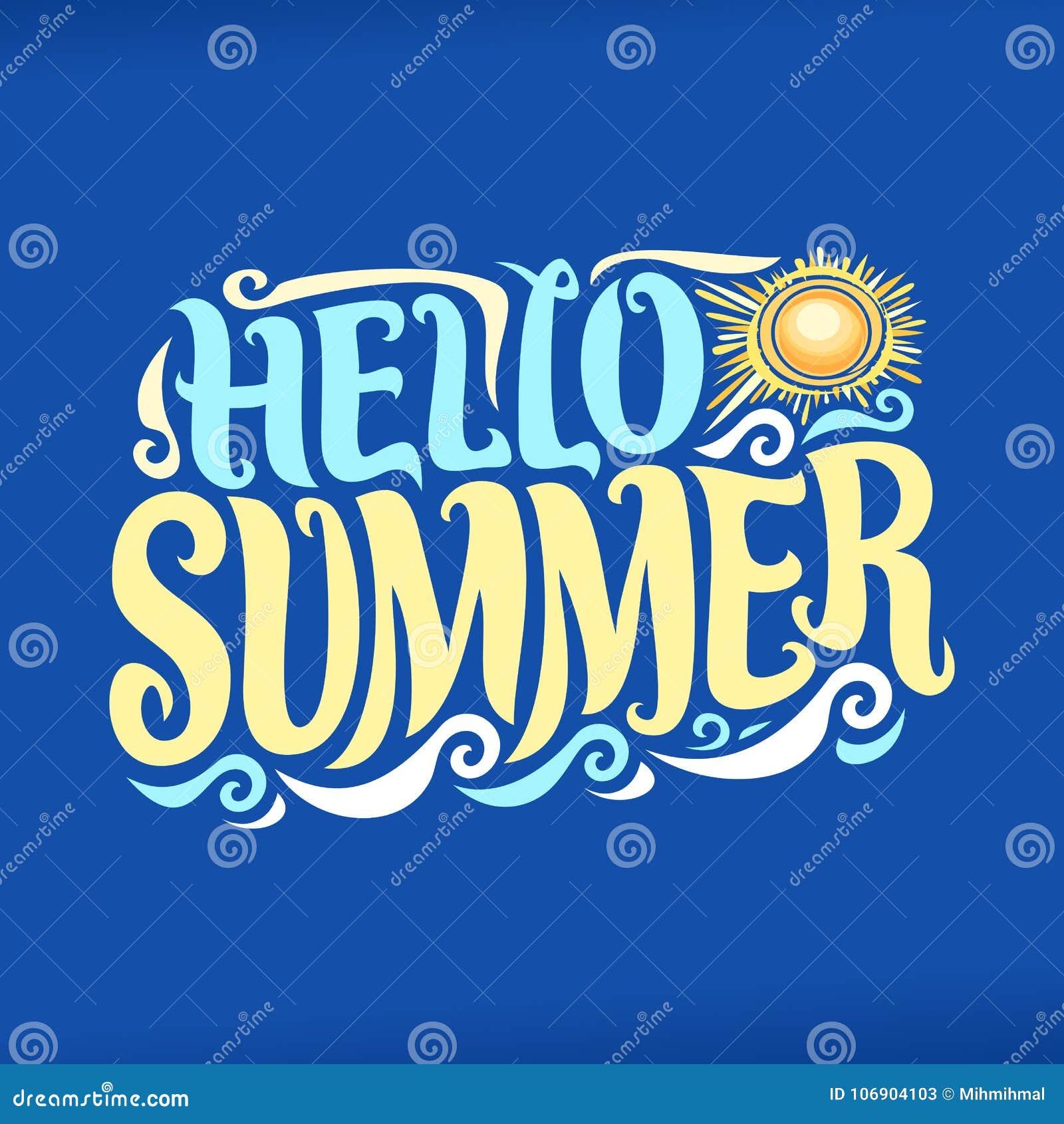 Wektorowy plakat dla lato sezonu