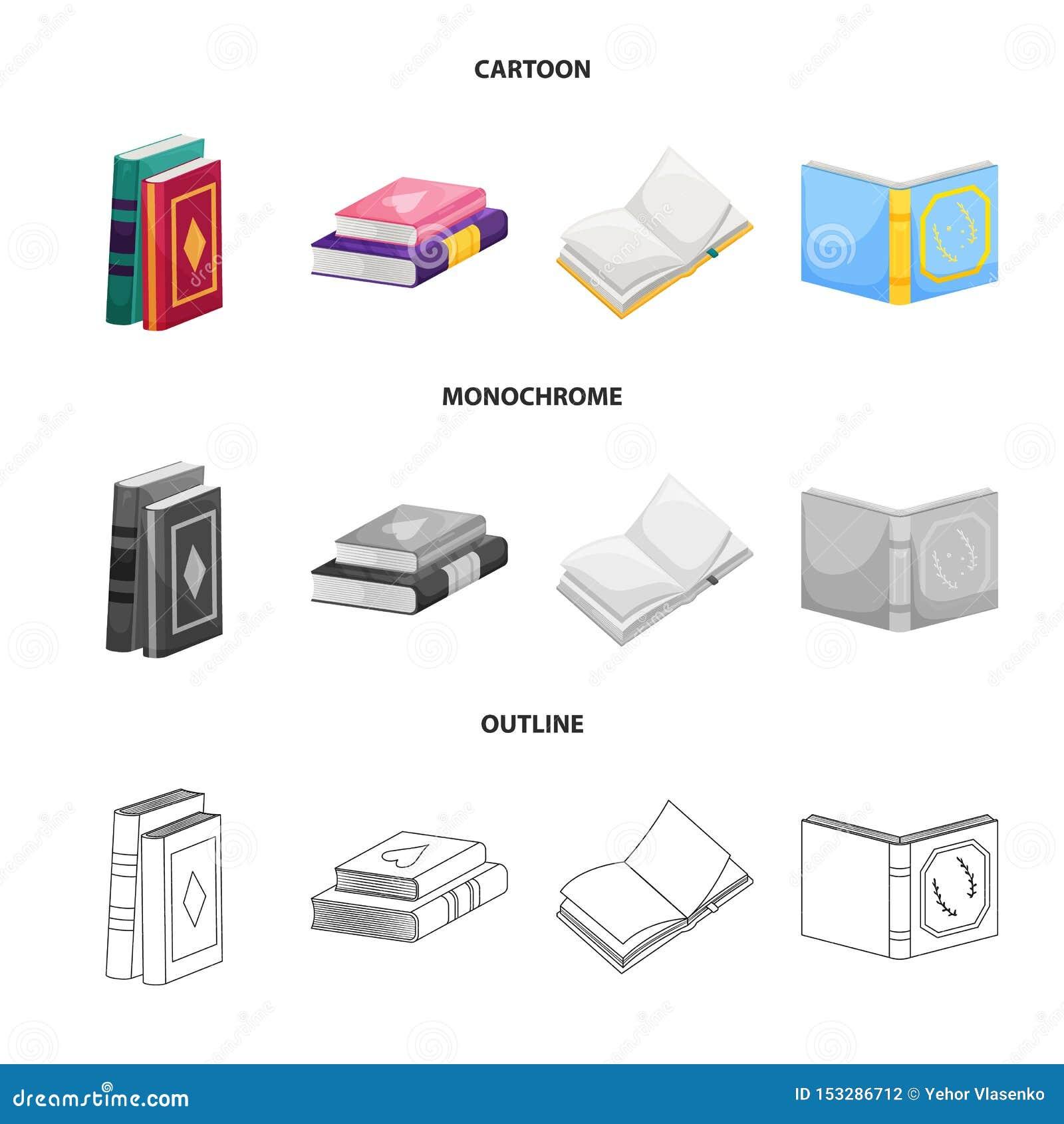 Wektorowy projekt szkolenia i pokrywy logo Set szkolenie i bookstore akcyjna wektorowa ilustracja