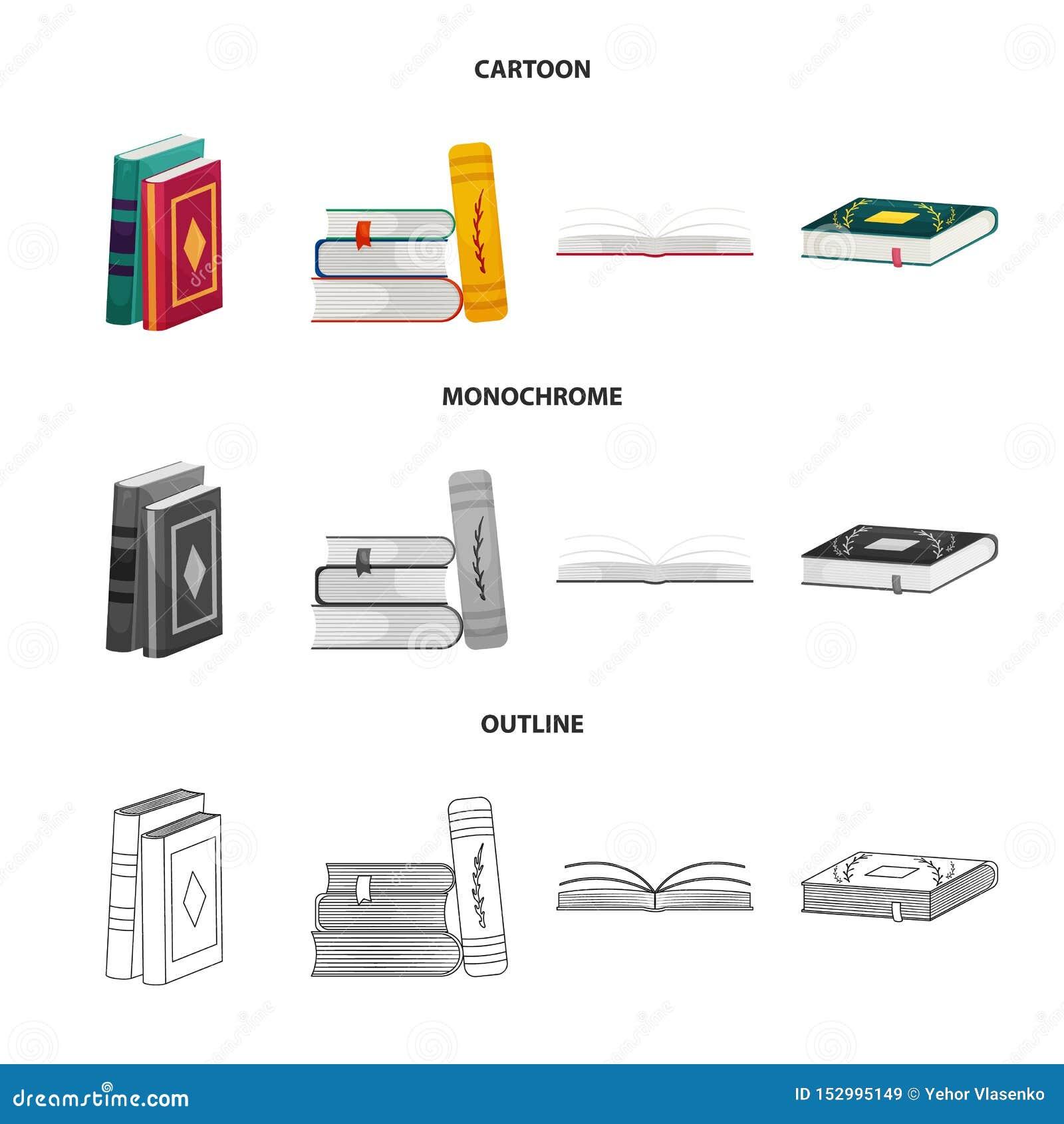 Wektorowy projekt szkolenia i pokrywy symbol Kolekcja szkolenie i bookstore akcyjna wektorowa ilustracja