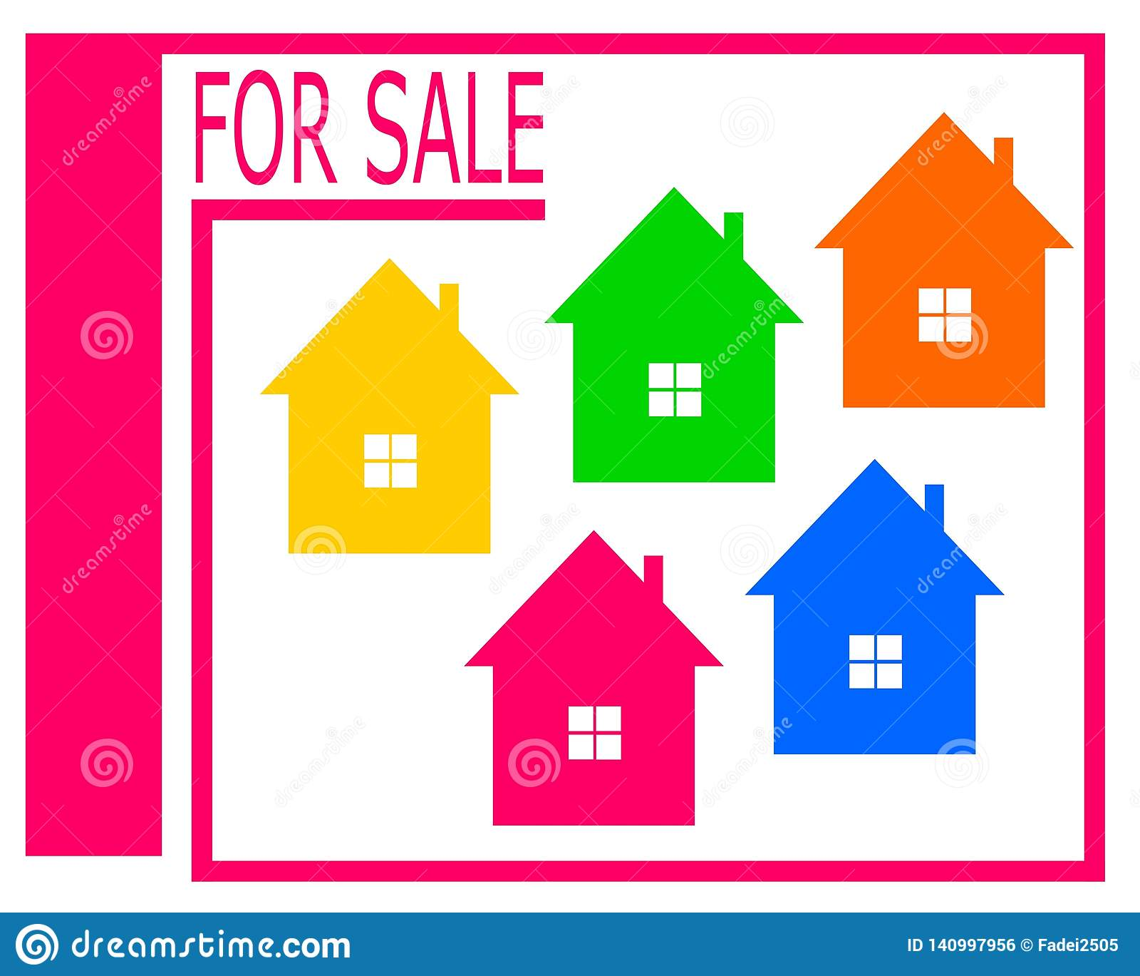 Wektorowy rysunek dom dla sprzedaż logo