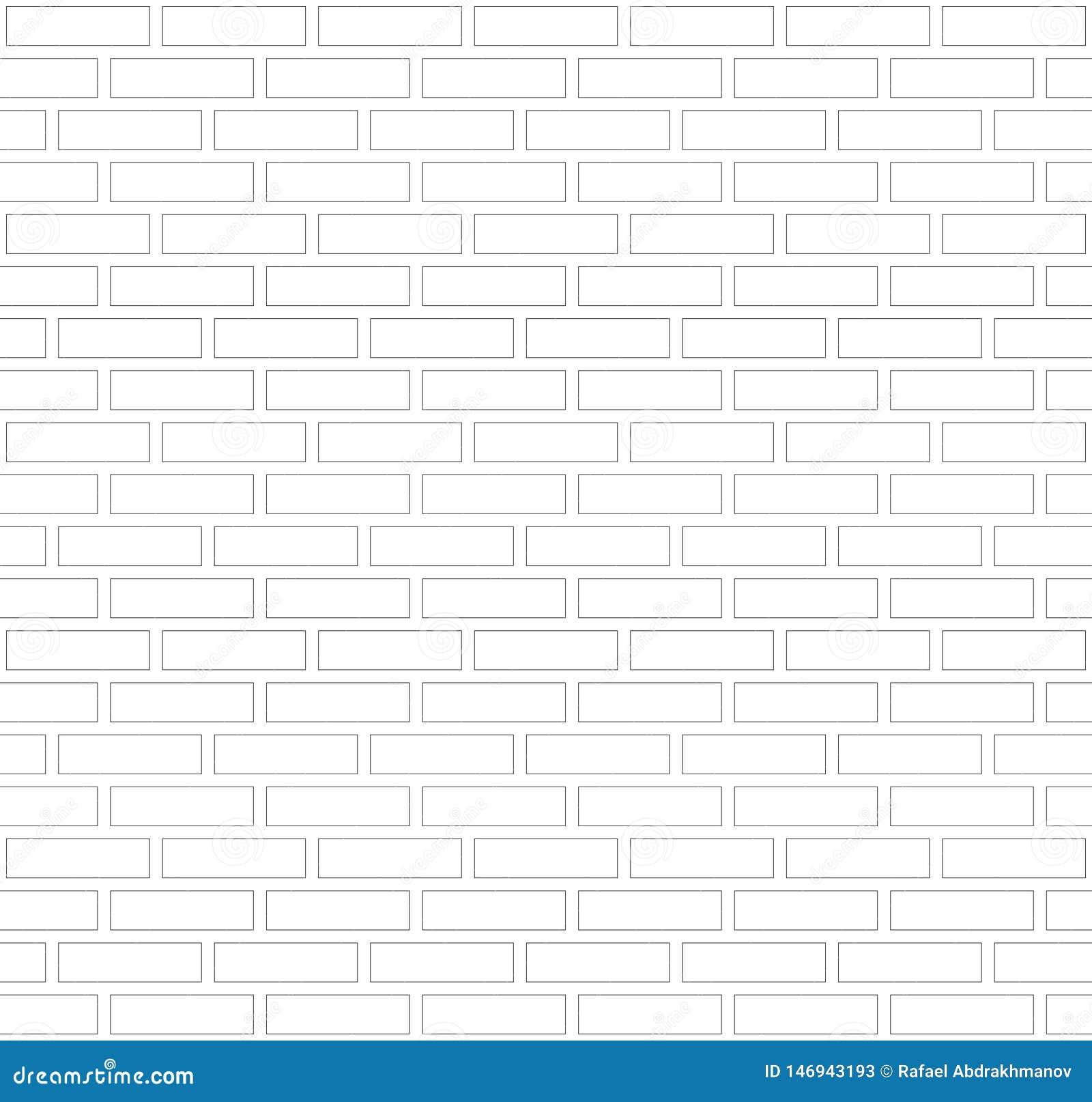 Wektorowy szarość i bielu kontur graniczy ściany z cegieł tło Starej tekstury miastowy kamieniarstwo Rocznik architektury bloku t