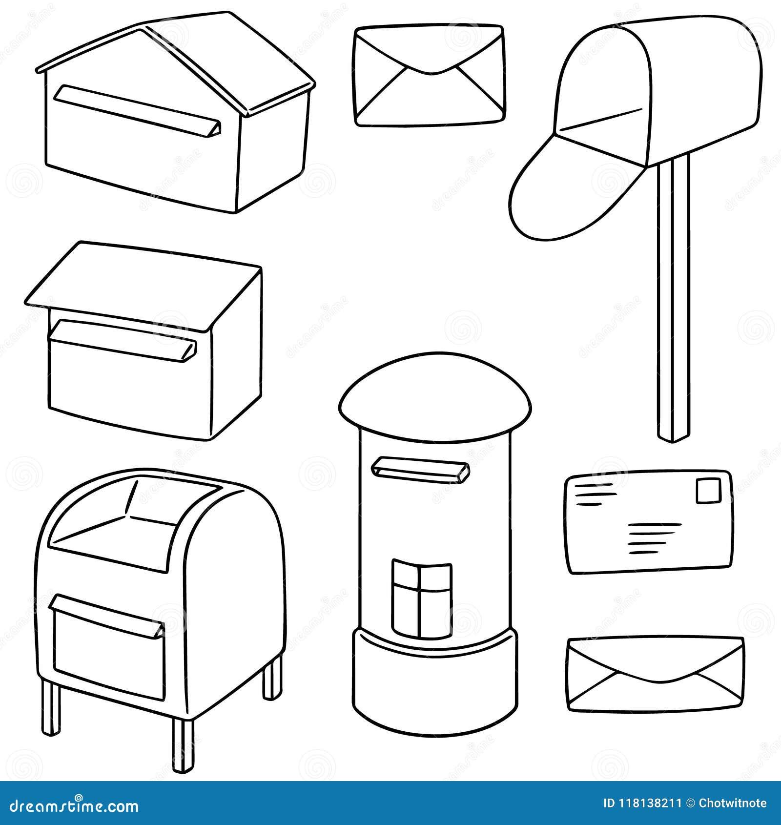 Wektorowy ustawiający postbox