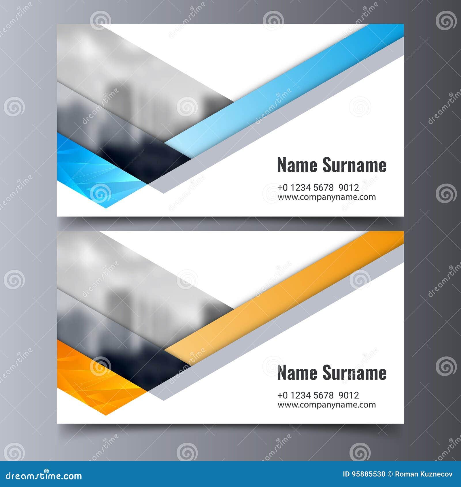 Wektorowy wizytówka szablon Kreatywnie korporacyjnej tożsamości układ