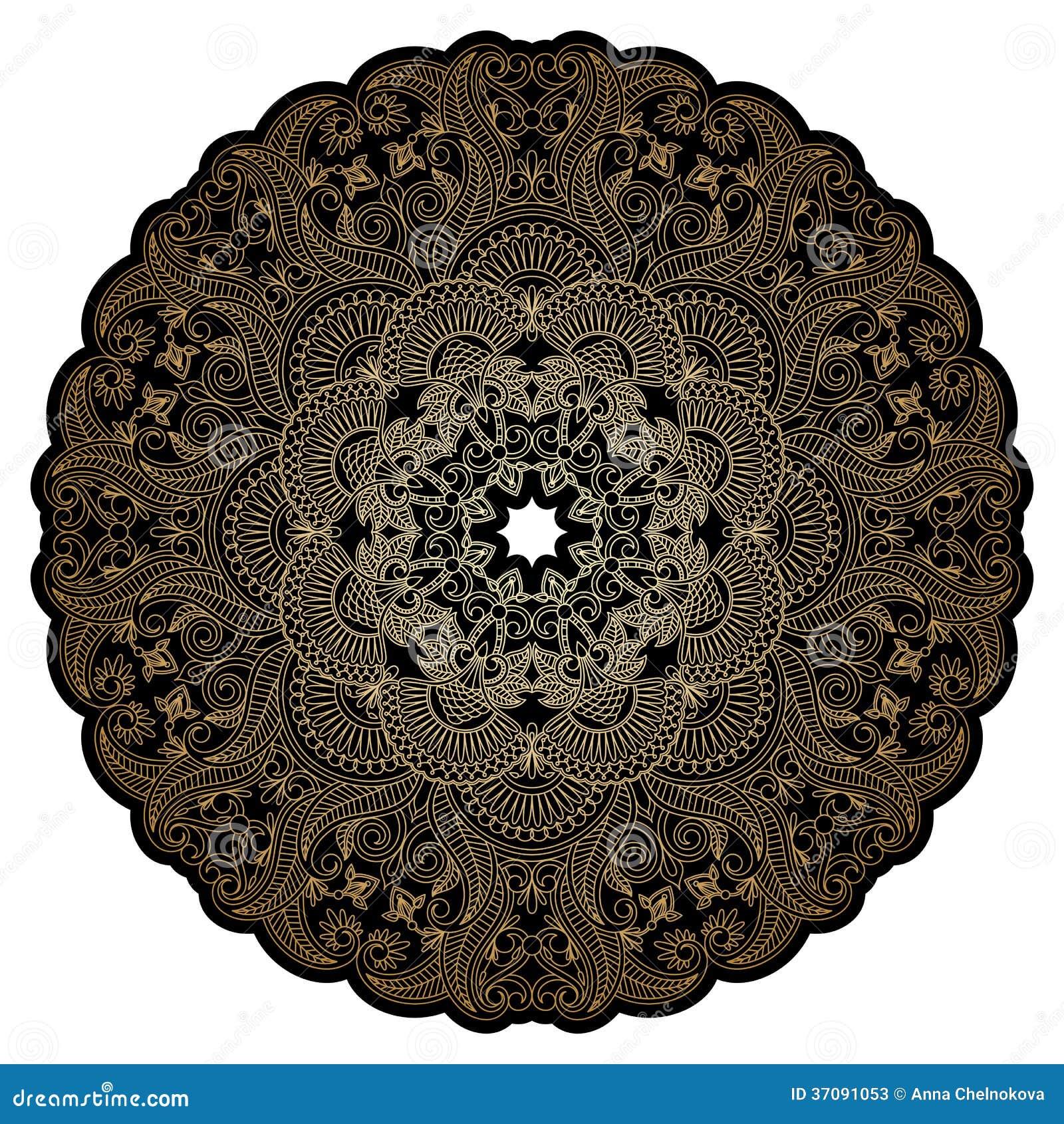 Download Wektorowy Złocisty Ornament. Ilustracja Wektor - Ilustracja złożonej z elegancja, arabesk: 37091053