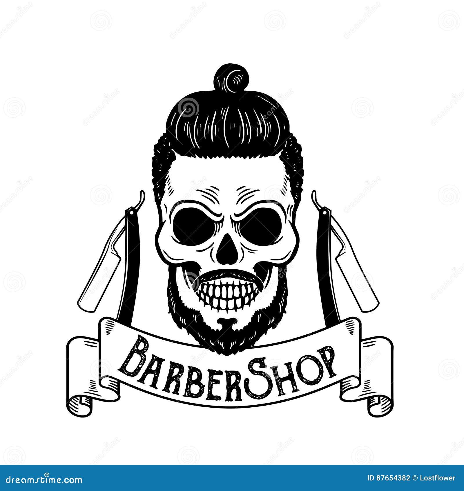 Wektorowy Zakładu Fryzjerskiego Emblemat Zakładu