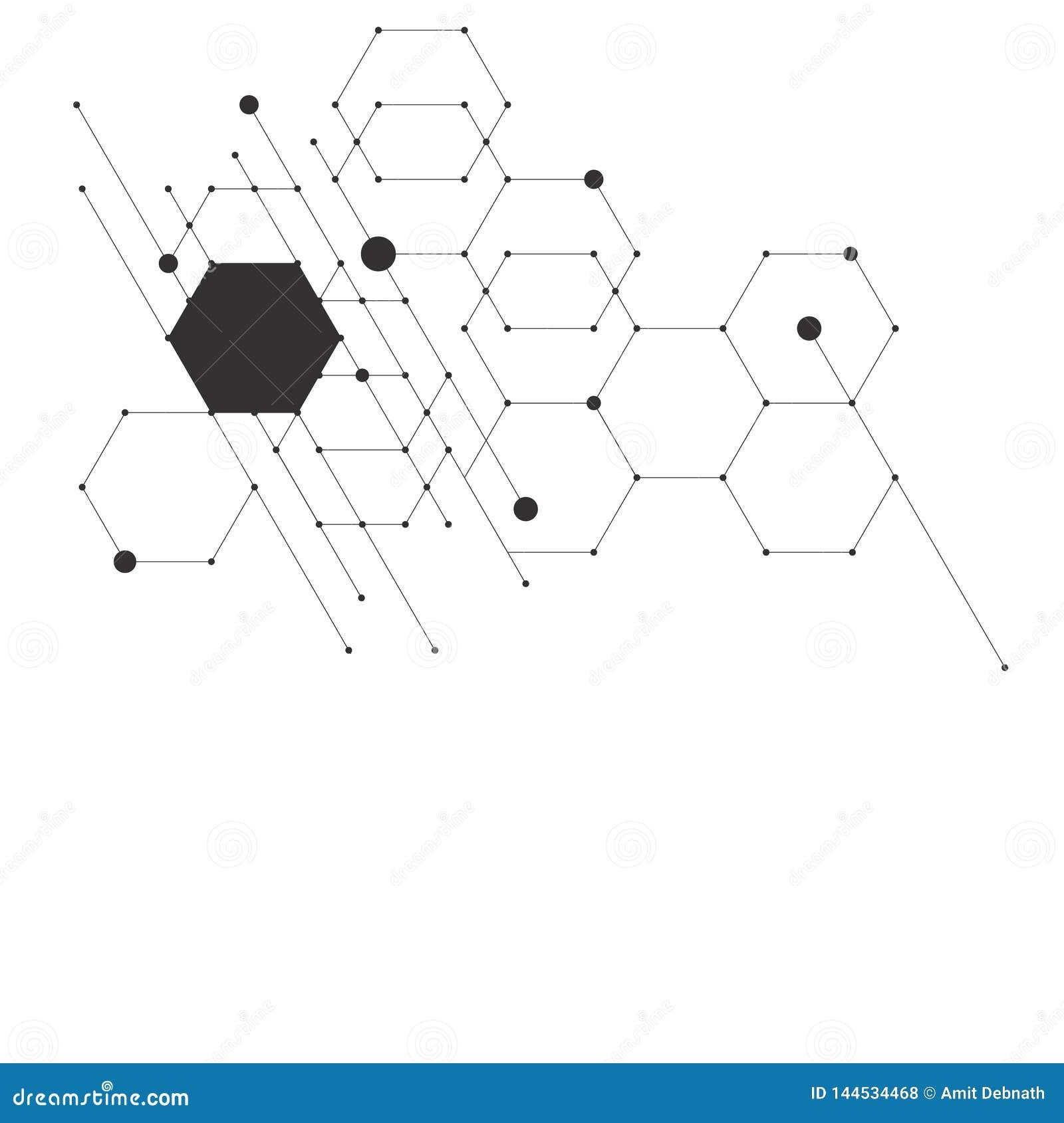 Wektorowych abstrakcjonistycznych nowożytnych pudełek technologiczni tła