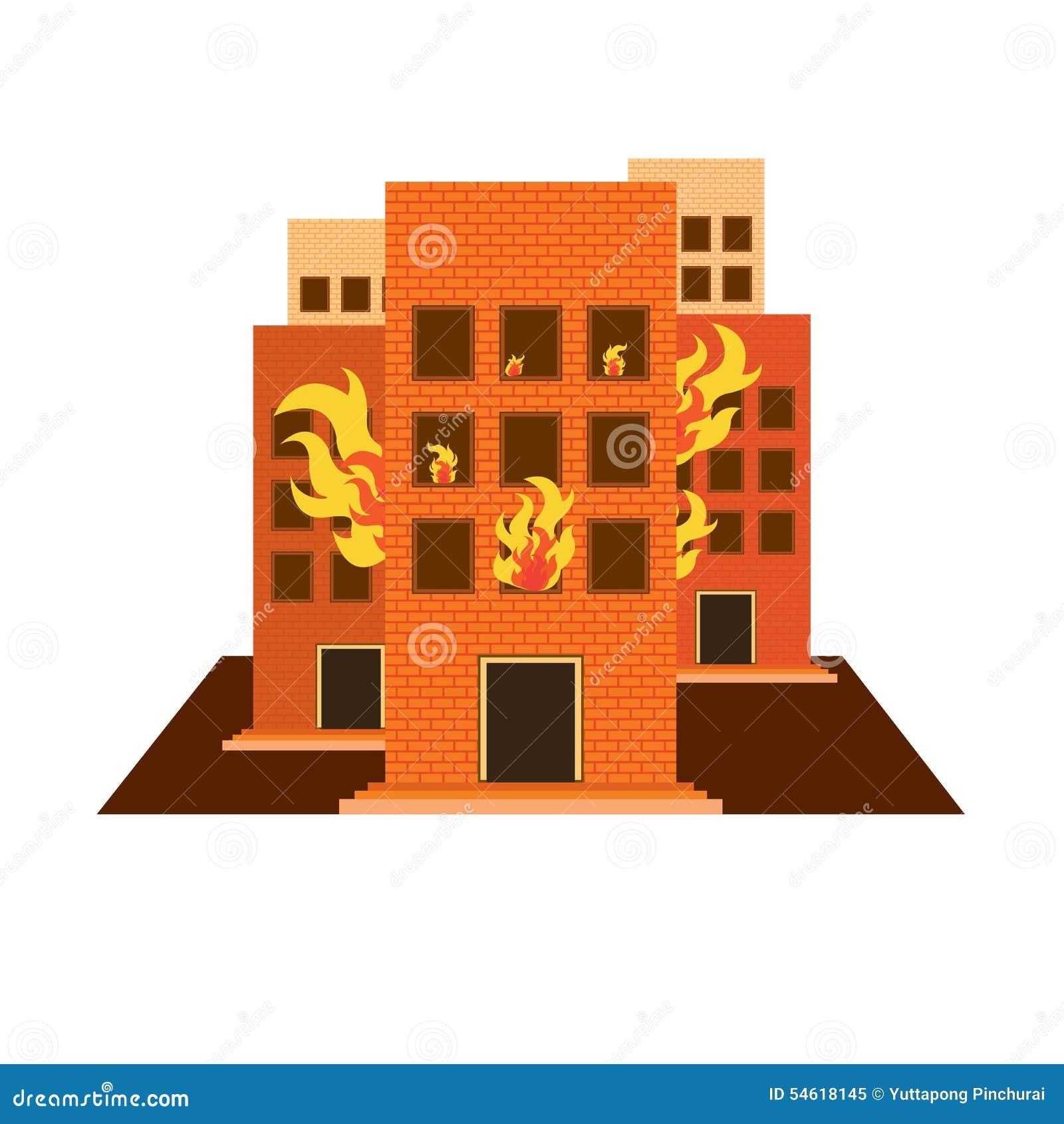 Wektory buduje pożarniczego colour i biel na bielu plecy ziemi