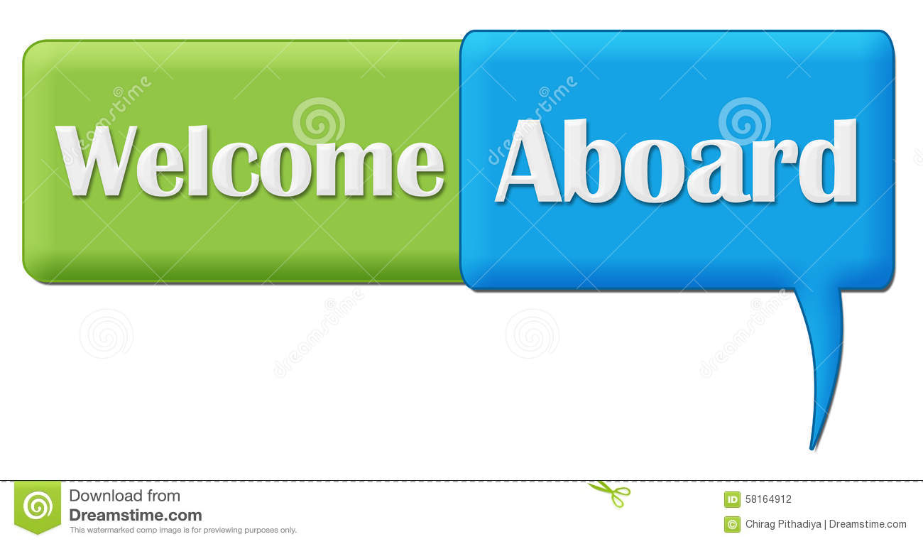 Welcome aboard green blue comment symbol stock illustration welcome aboard green blue comment symbol buycottarizona Gallery