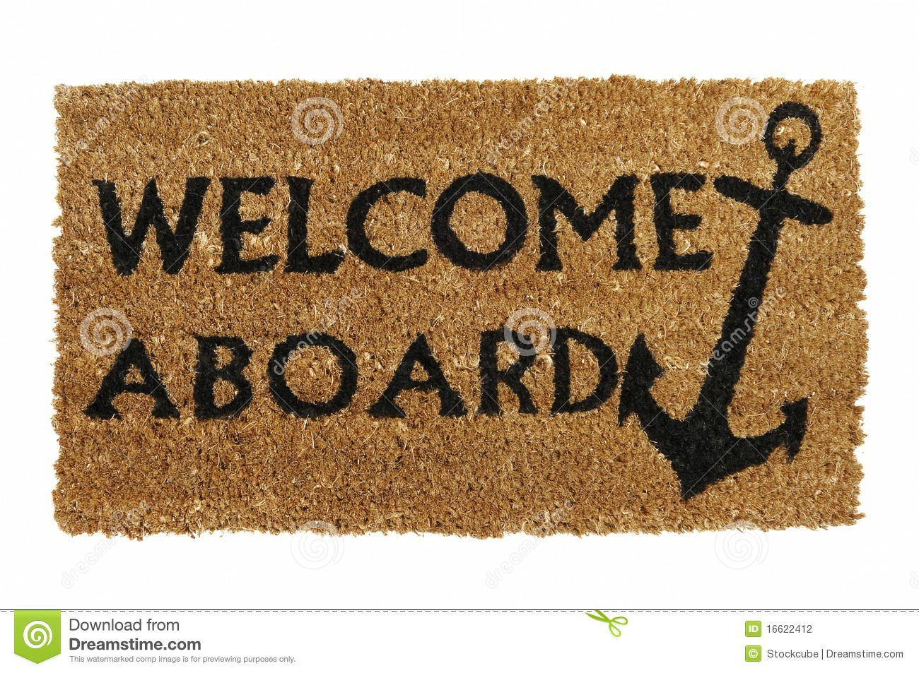 62128a031c7a Welcome Aboard Mat stock photo. Image of nobody