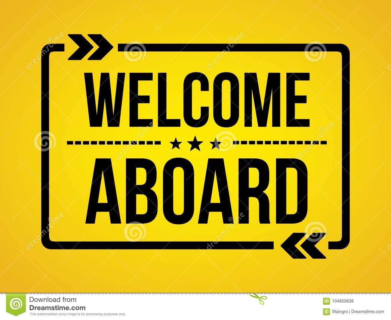 Welcome Aboard Wallpaper Message Stock Photo Image Of Business