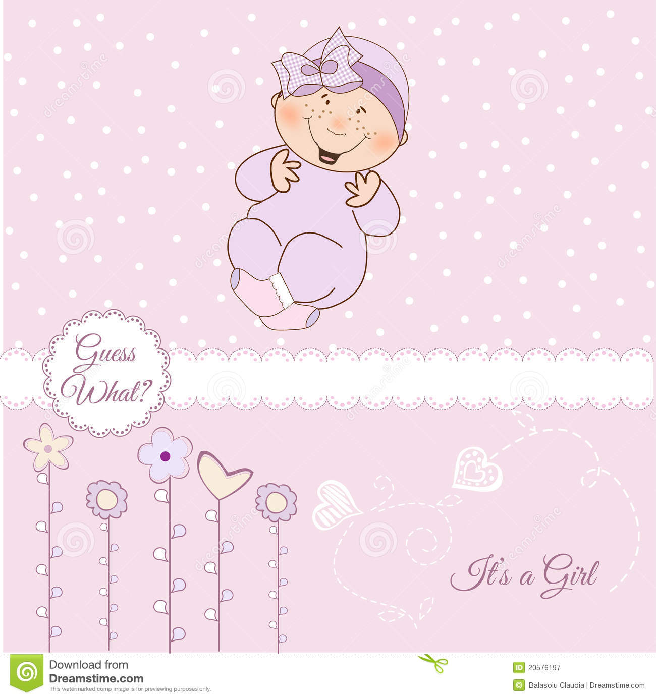 Welcome, Baby Announcement Card Stock Illustration ...