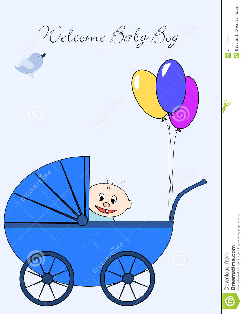 Welcome Baby Boy Royalty Free Stock Images  Image: 20068999