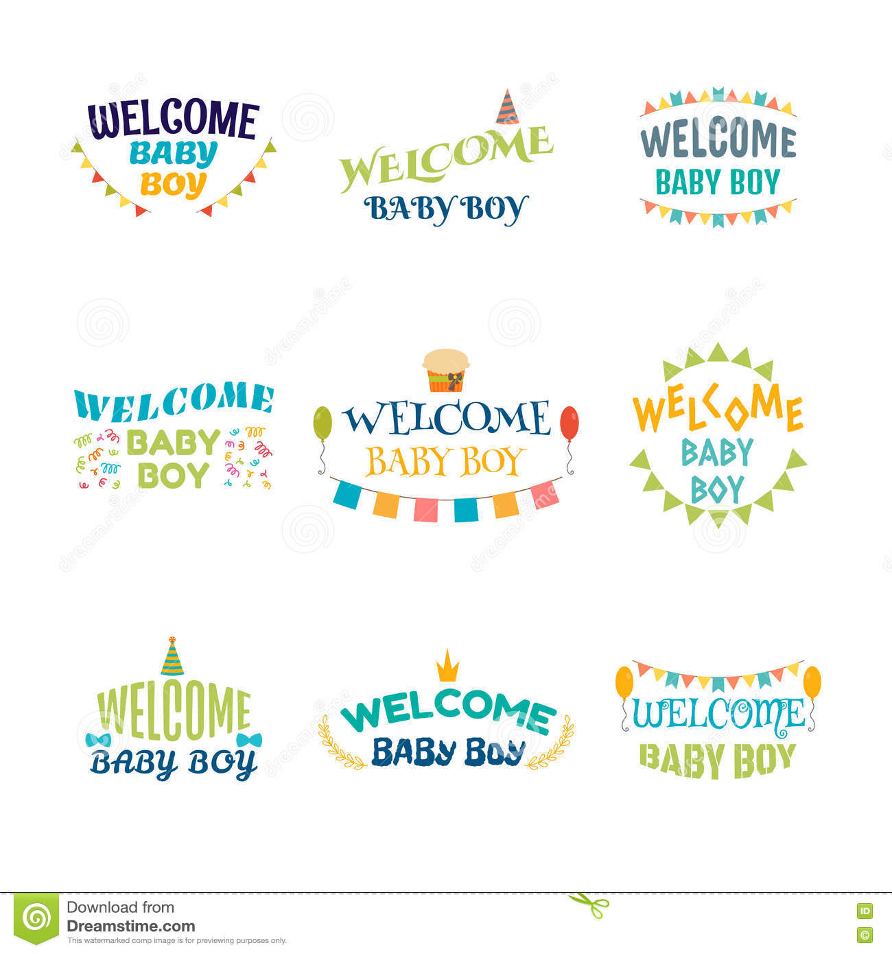 Welcome Baby Boy. Baby Boy Arrival Postcards. Baby Shower ...