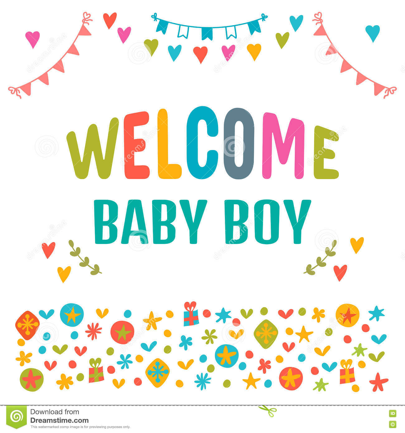 Welcome Baby Boy Baby Boy Shower Card Baby Shower