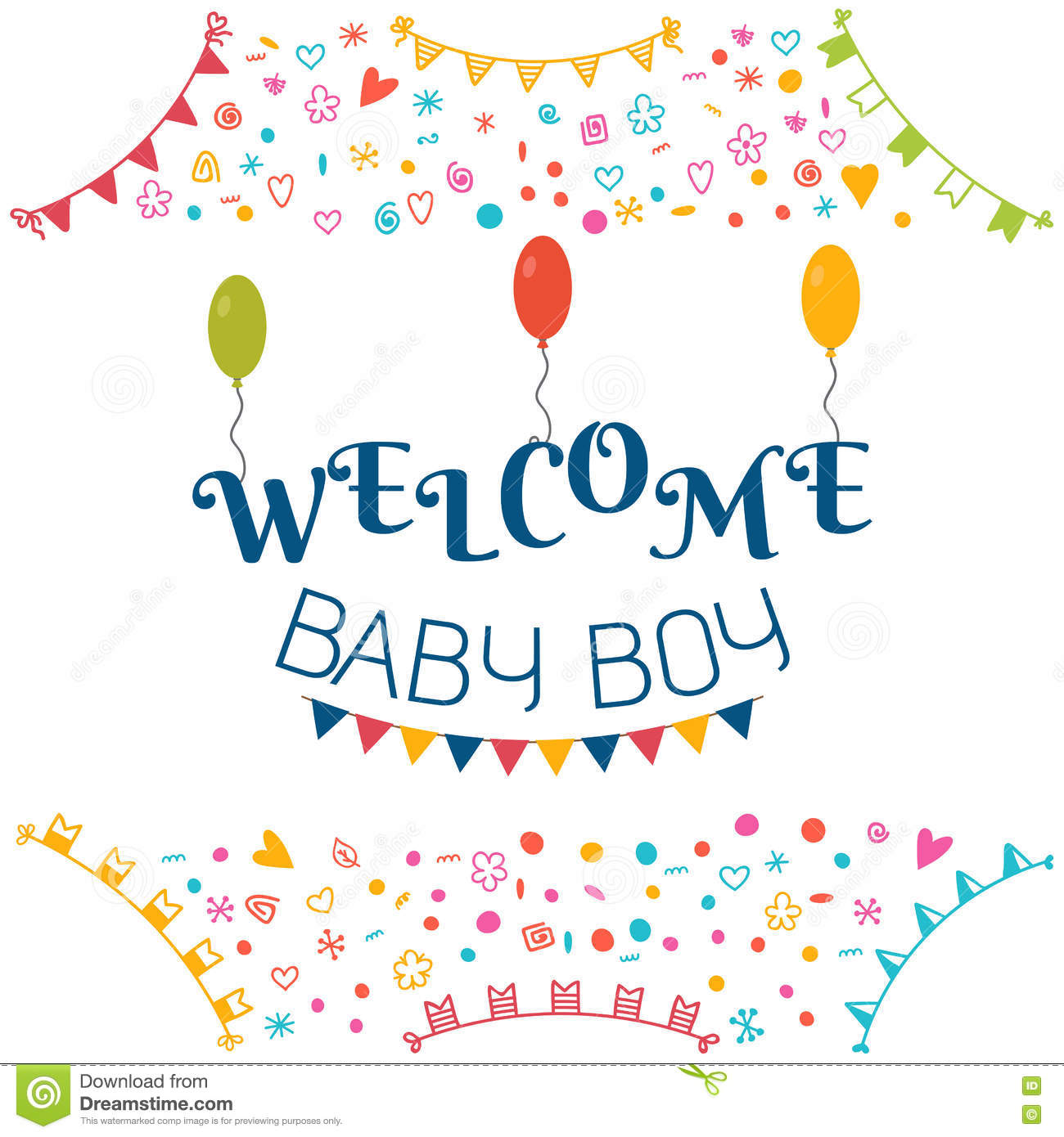 welcome baby boy baby shower greeting card cute baby boy showe royalty free stock