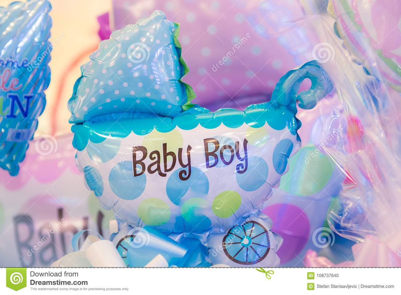 Gifts For Newborn Baby Stock Photo Image Of Blow Background