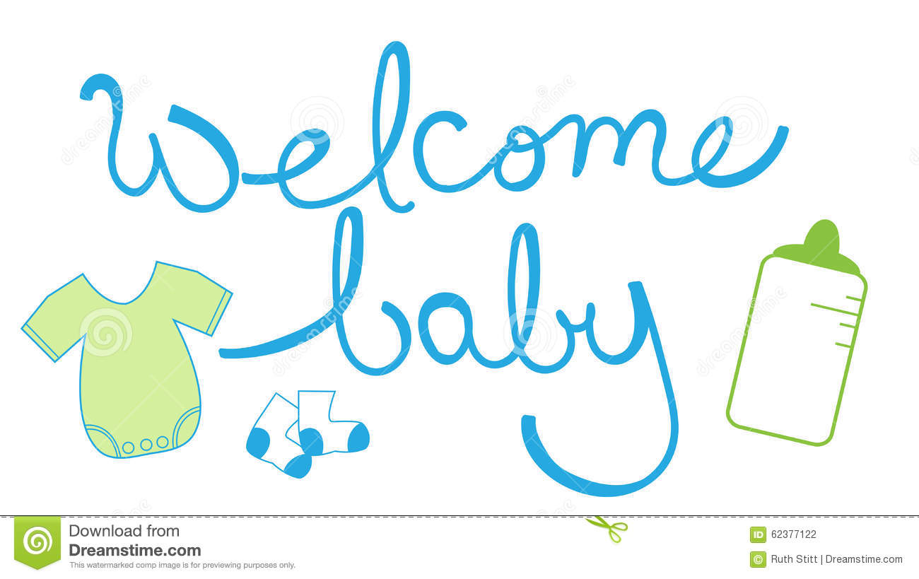 Welcome Baby Bo... Elephant Baby Shower Clipart