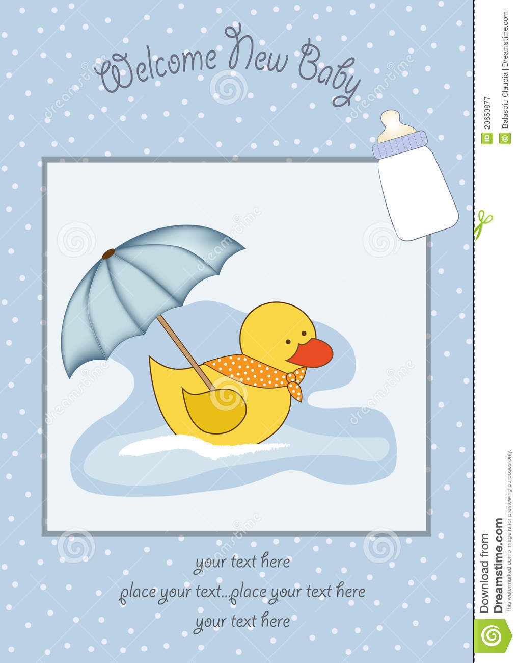 welcome baby shower card royalty free stock photography image