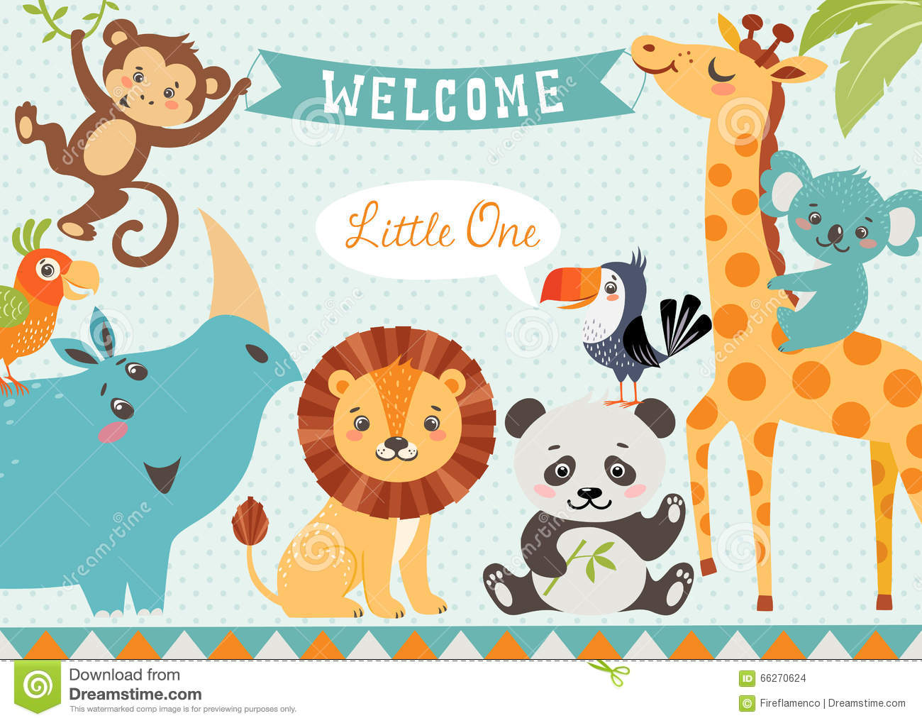 welcome baby stock vector illustration of spotted shower