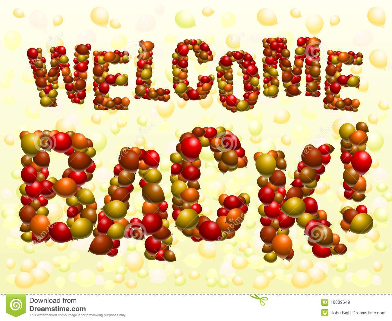 welcome back sign free