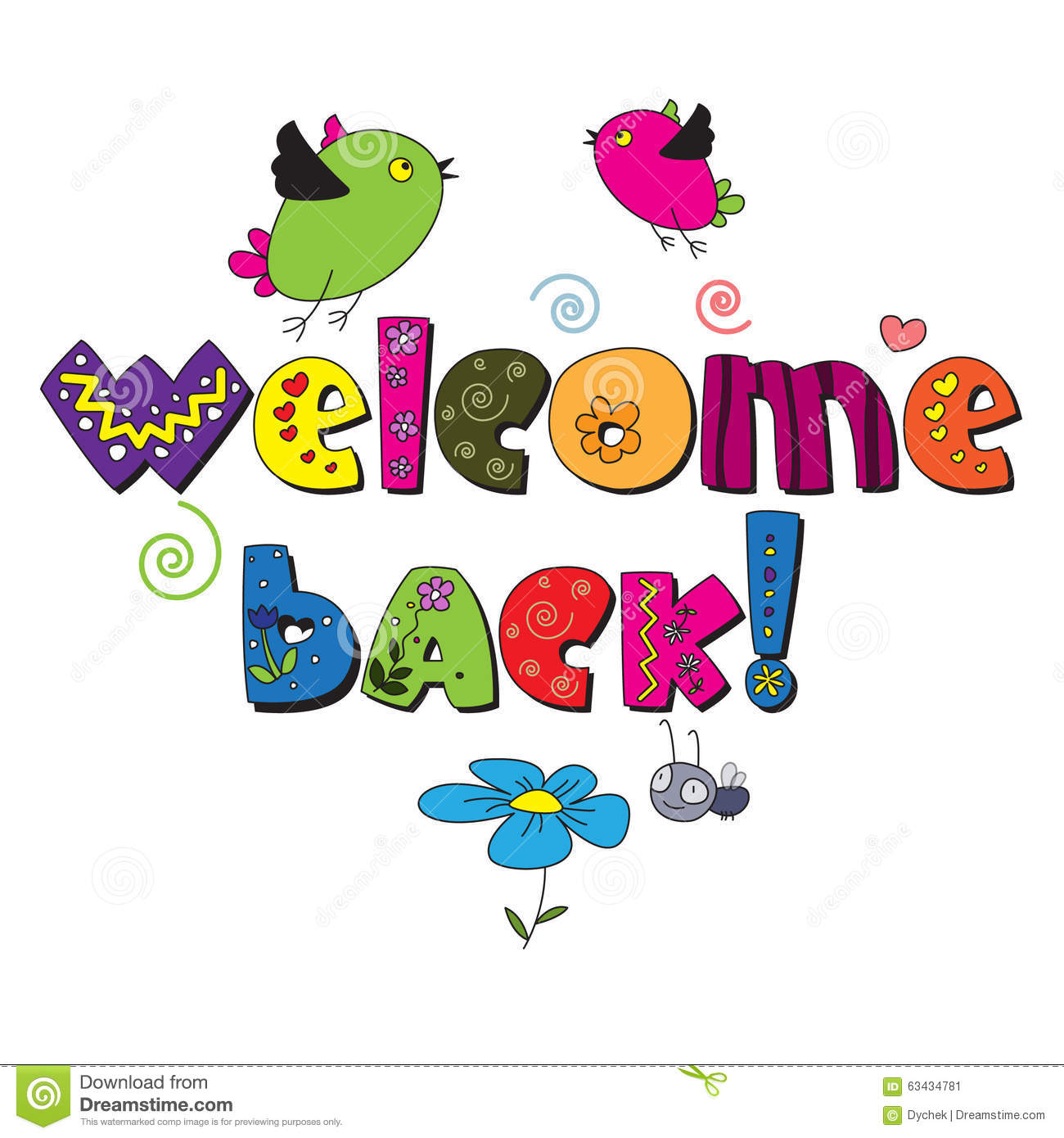 welcome back stock vector illustration of font signs 63434781 rh dreamstime com welcome back clipart school welcome back clipart free