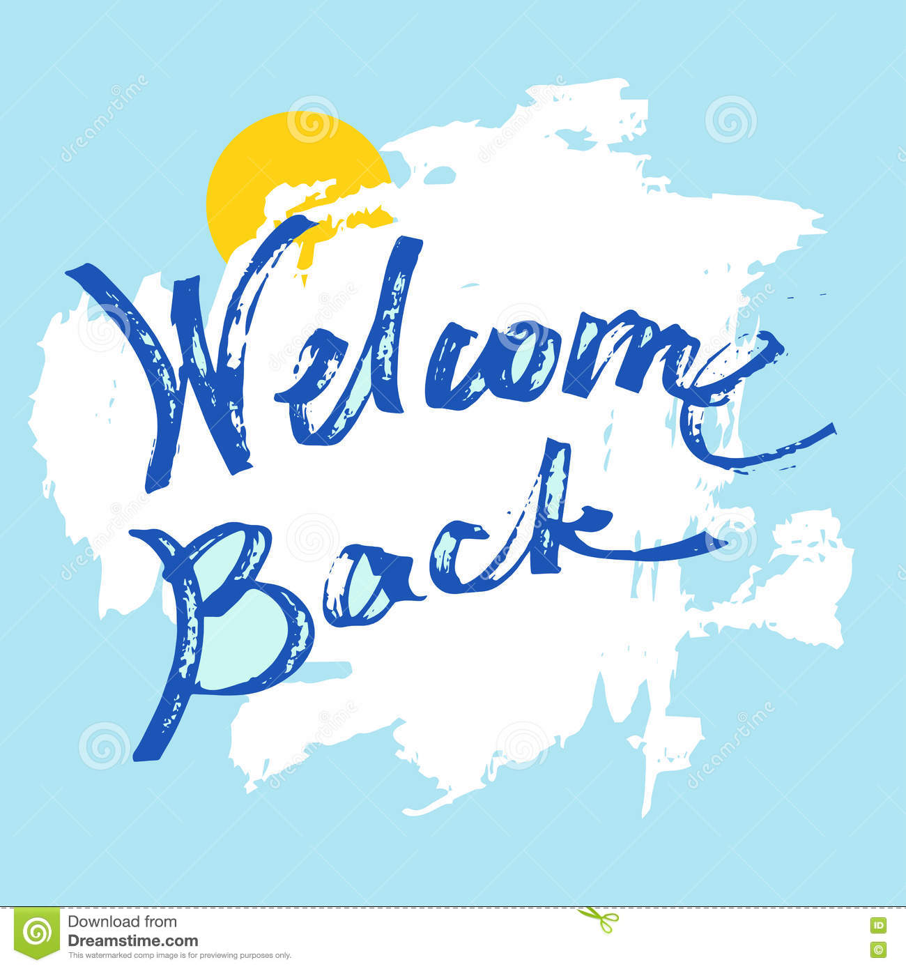 Welcome back greeting card stock vector illustration of greeting welcome back greeting card m4hsunfo