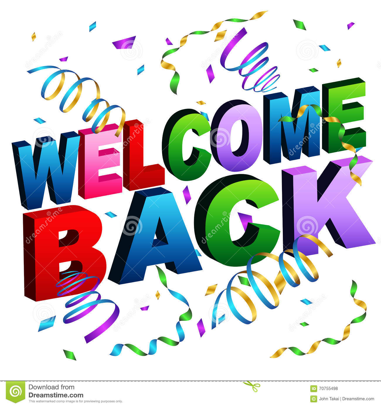 Welcome Back Message Stock Vector - Image: 70755498