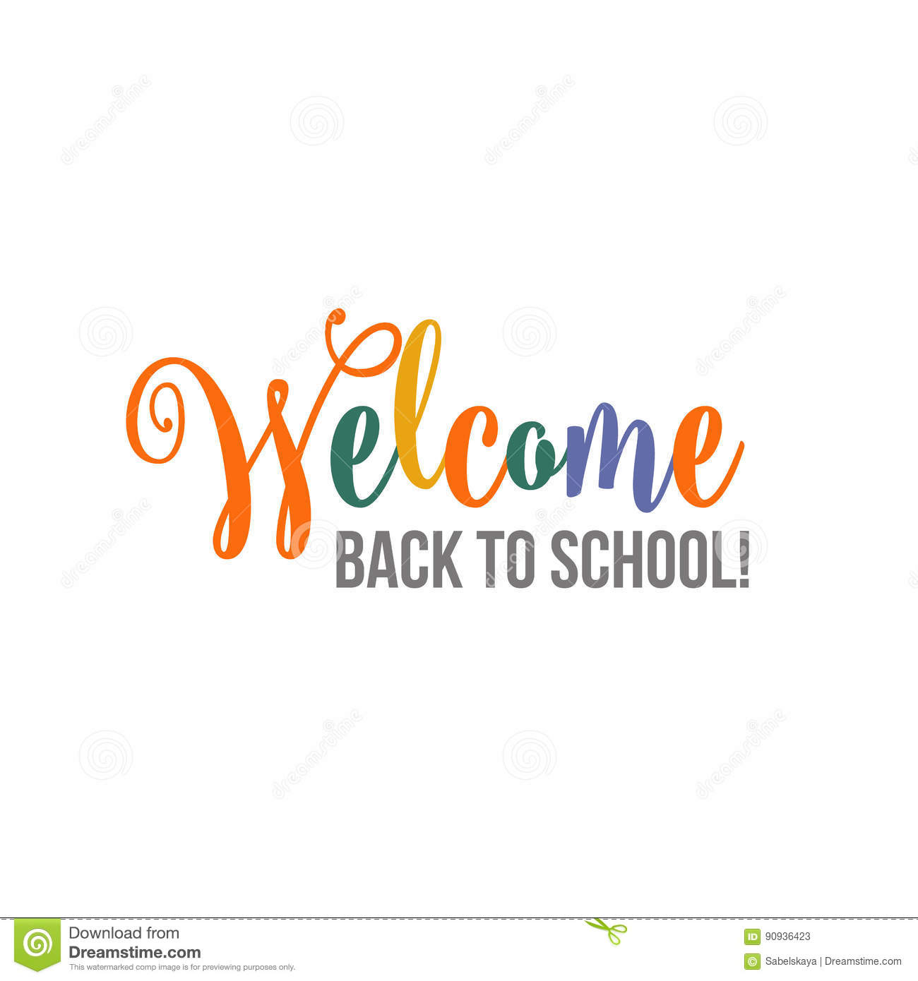 Welcome Back To School Brush Lettering Poster, Banner