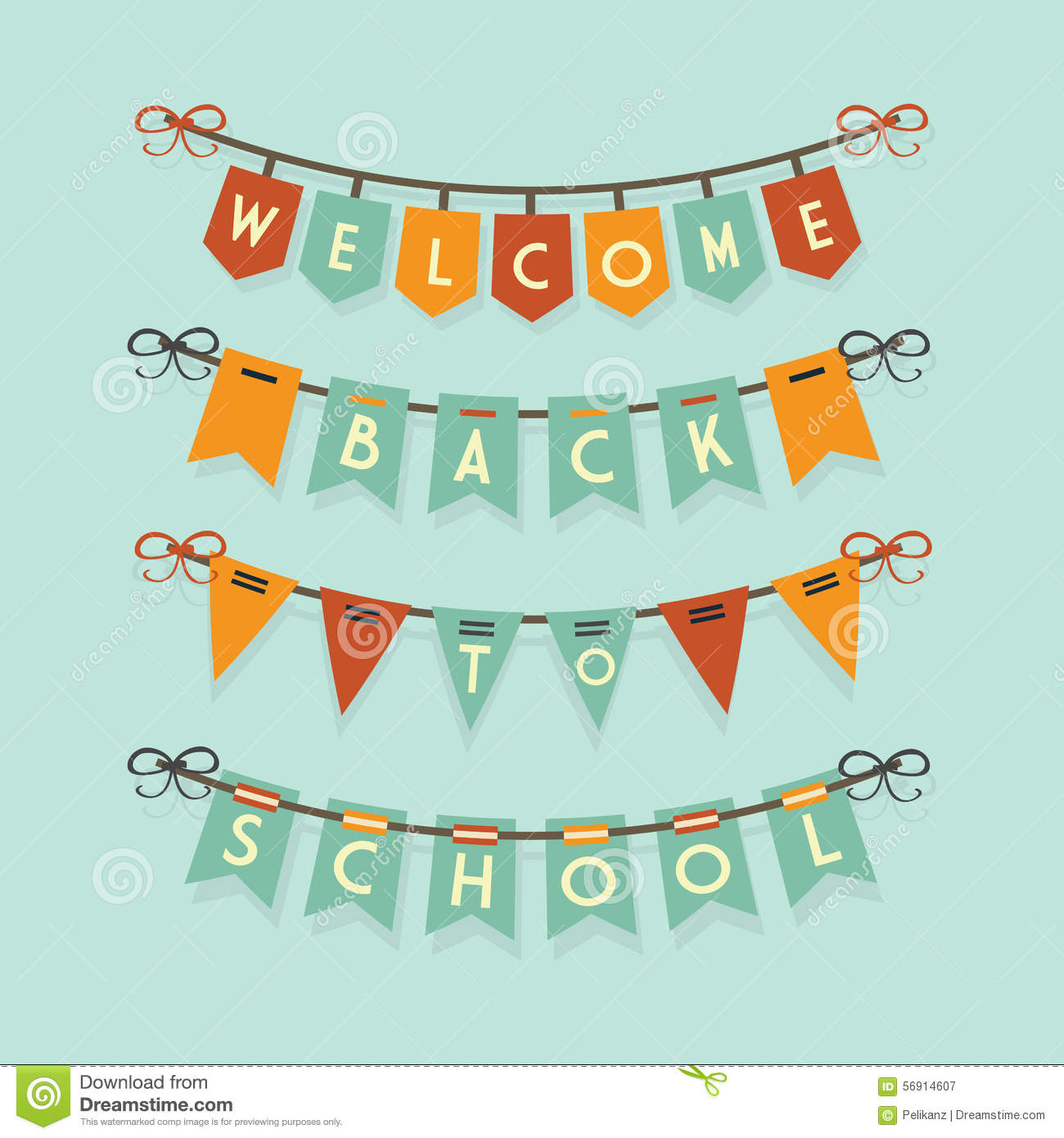 Welcome back to school buntings decoration set stock for Back to school decoration