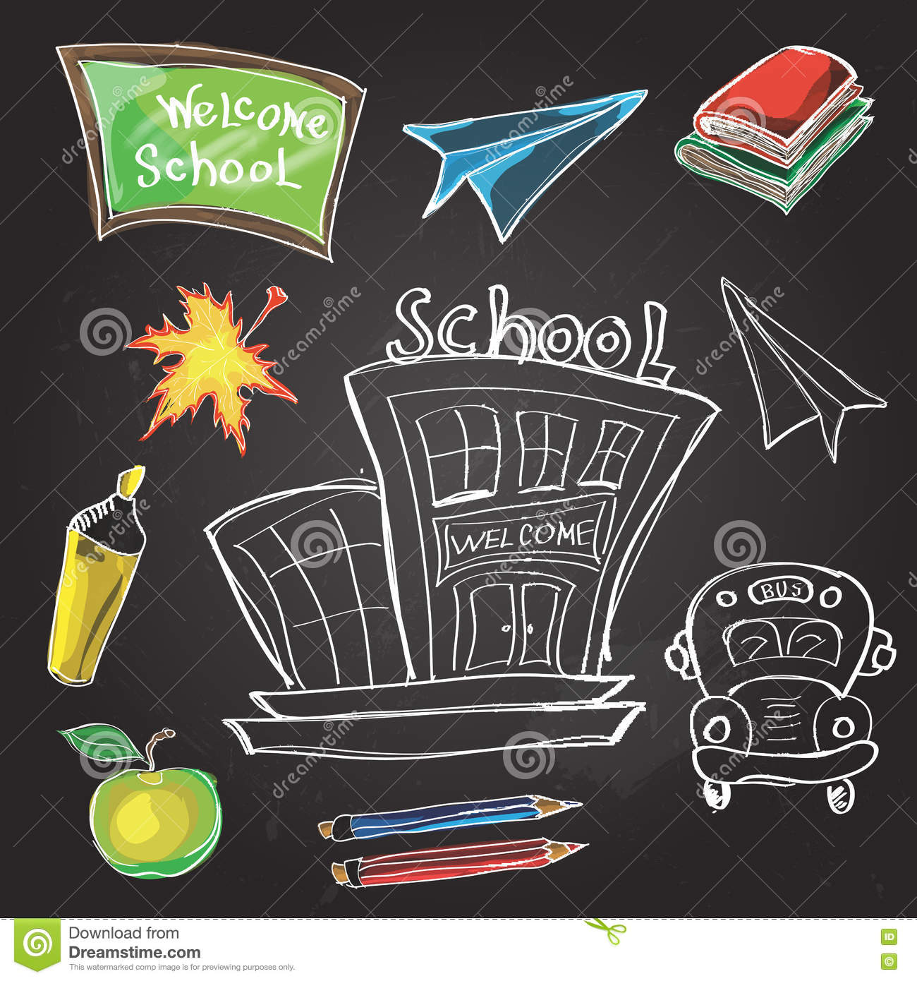 Science Design For Notebook: Welcome Back To School Classroom Supplies Notebook Doodles