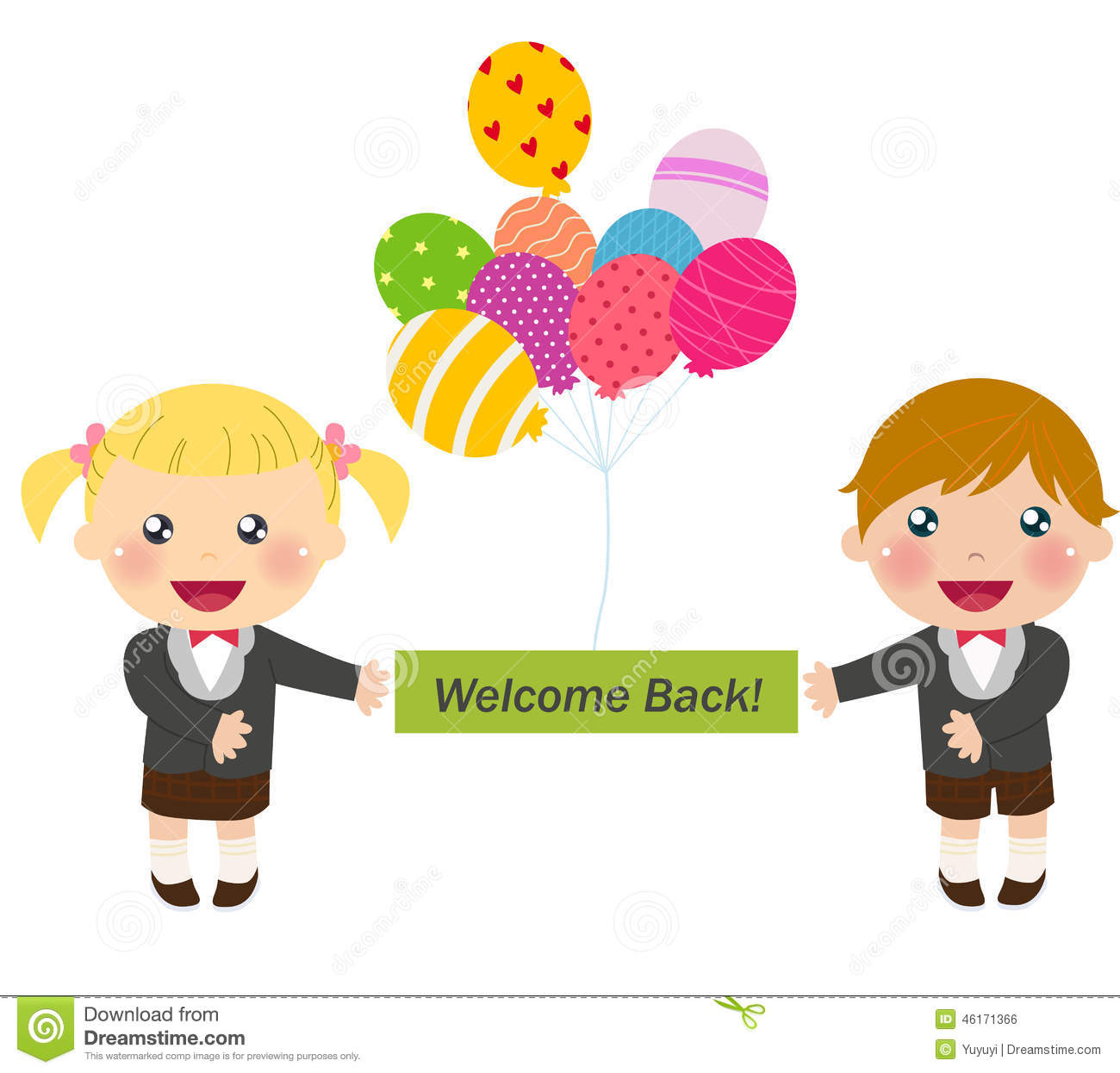 Welcome Back To School Stock Vector - Image: 46171366