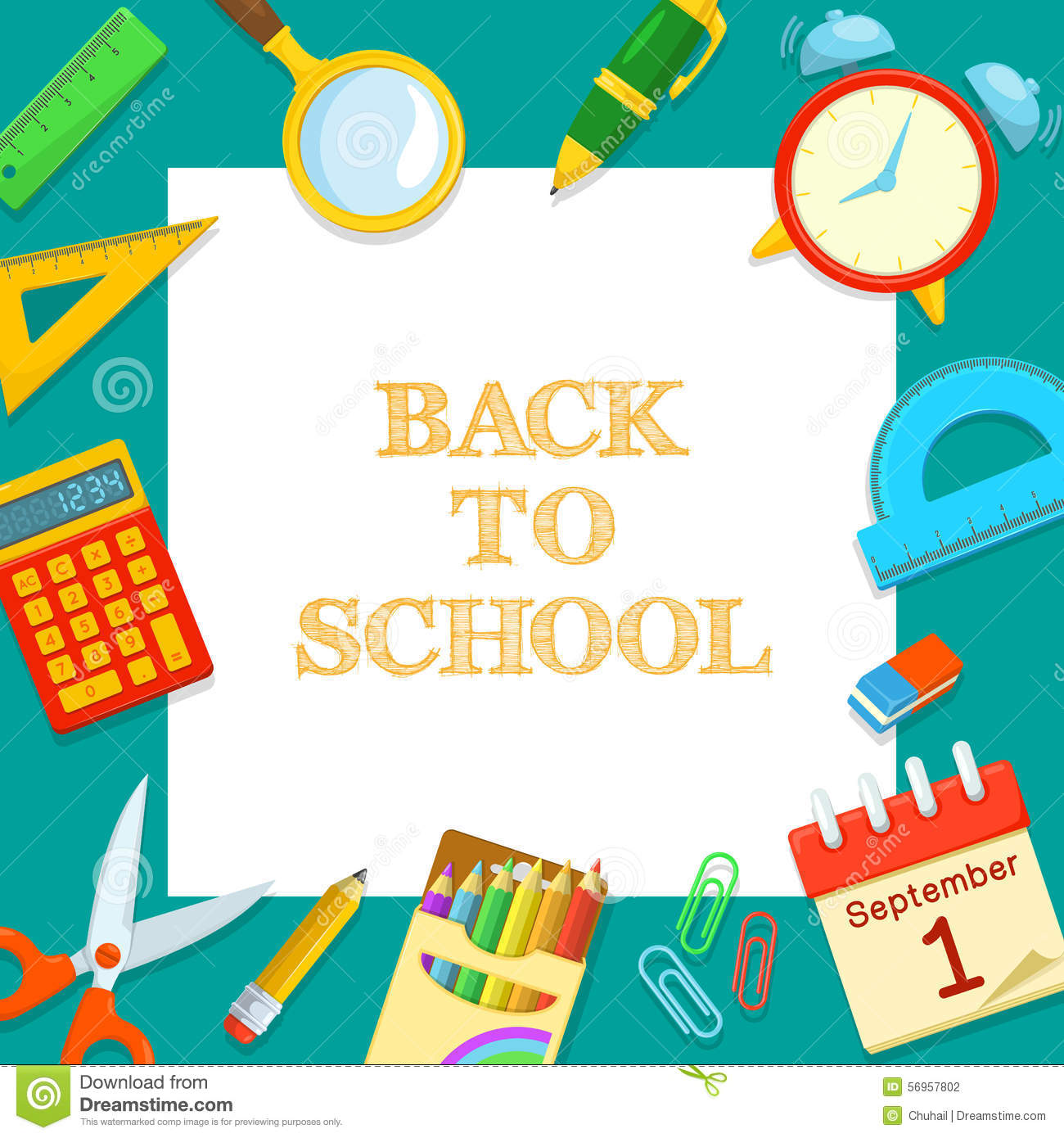 Welcome back to school stock vector. Illustration of ...