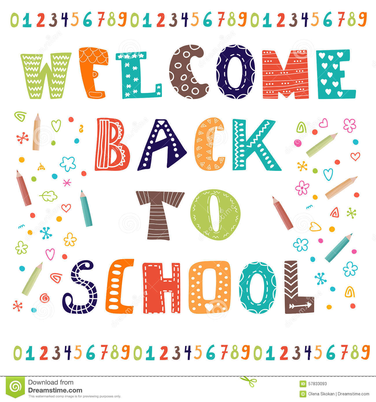 Welcome back to school greeting card back to school for Design schule