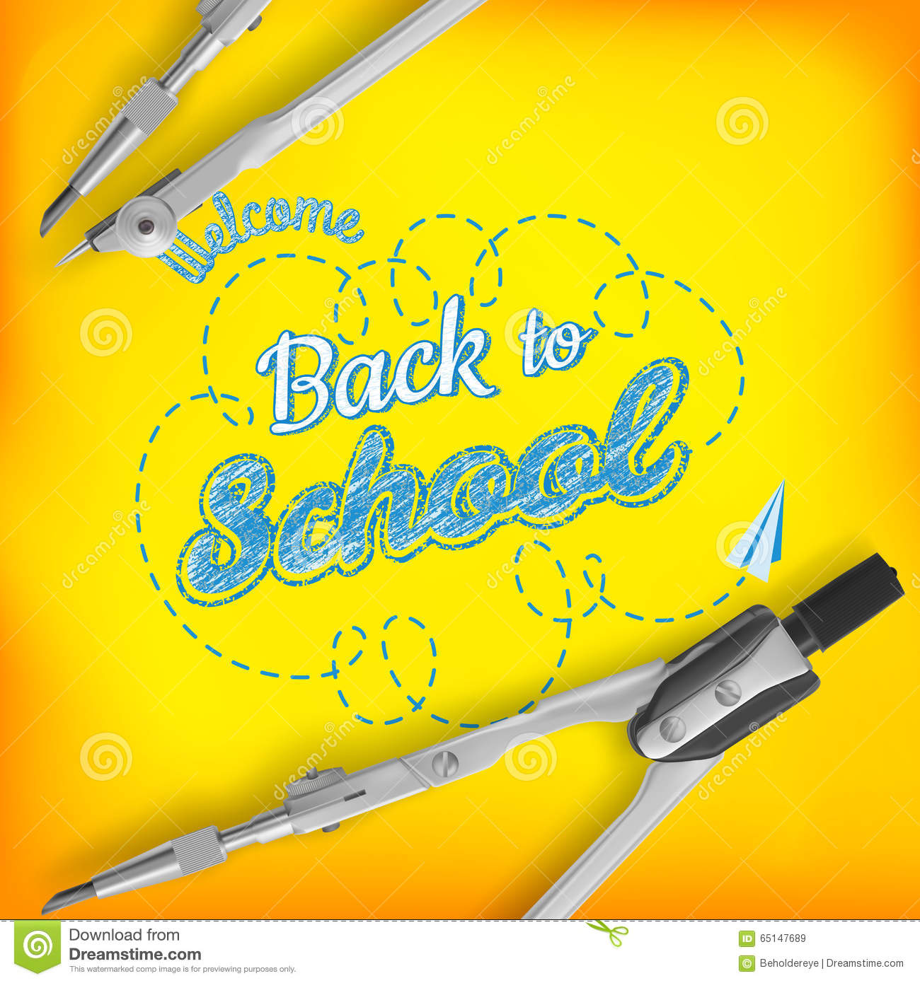 Welcome back to school greeting card eps 10 stock vector welcome back to school greeting card eps 10 kristyandbryce Gallery