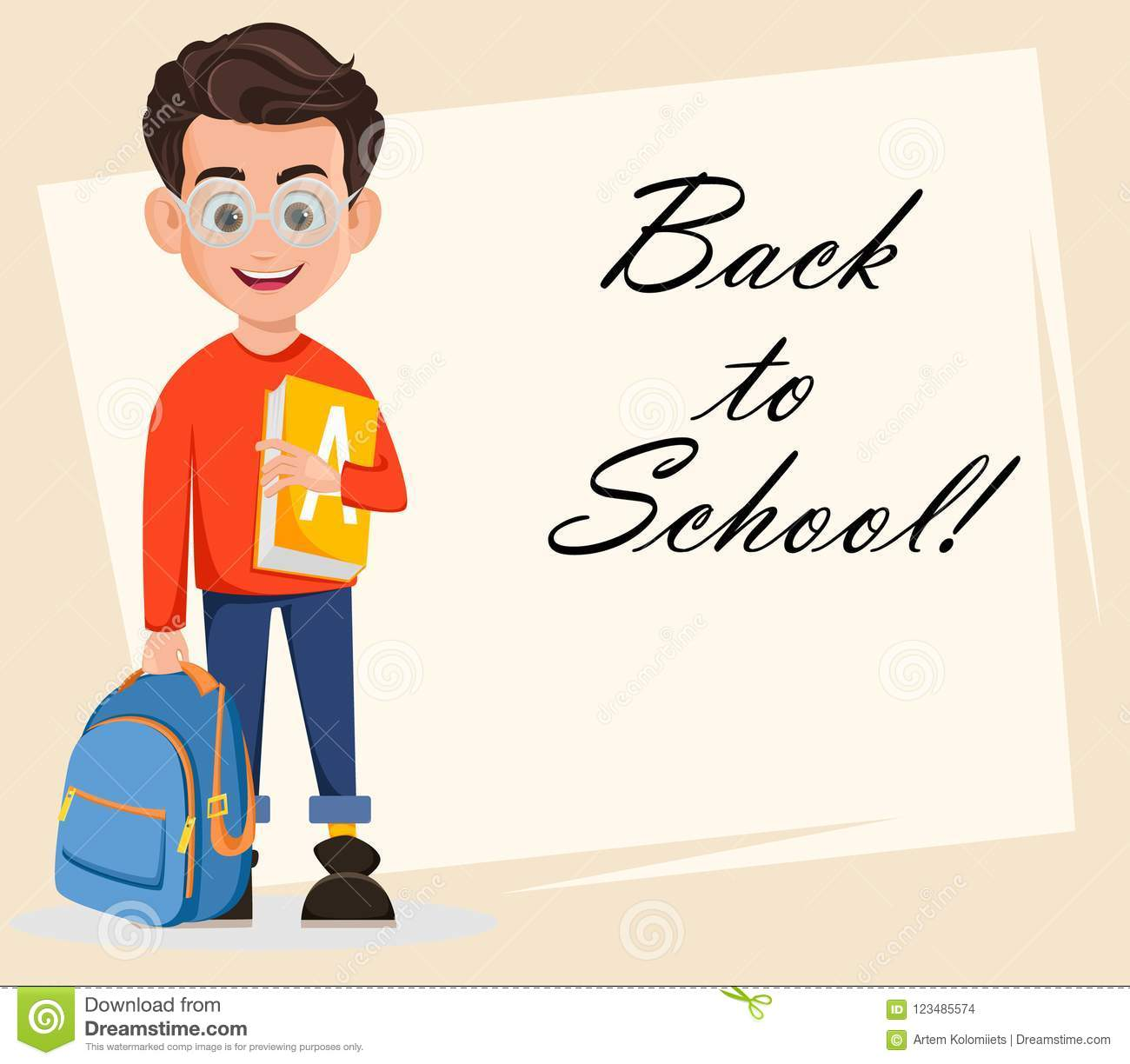 Welcome back to school greeting card stock vector illustration of download welcome back to school greeting card stock vector illustration of rucksack flyer m4hsunfo