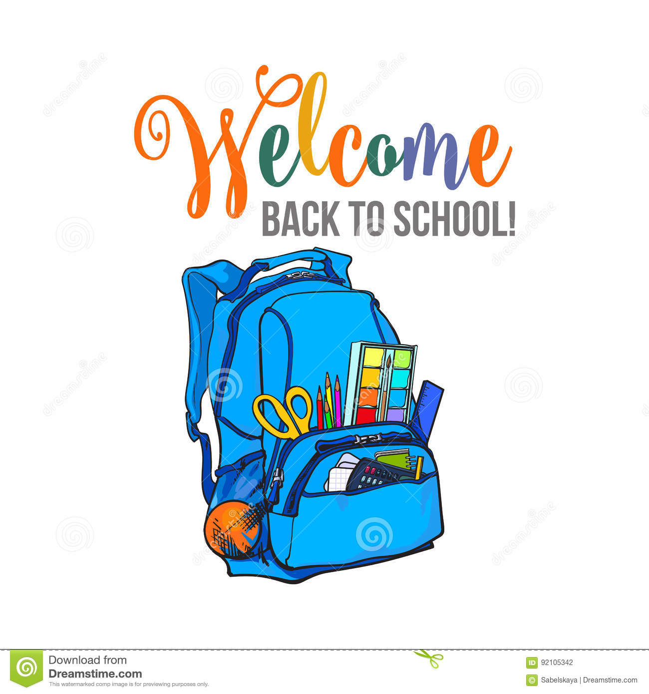 Welcome Back To School Poster, Banner, Postcard Design