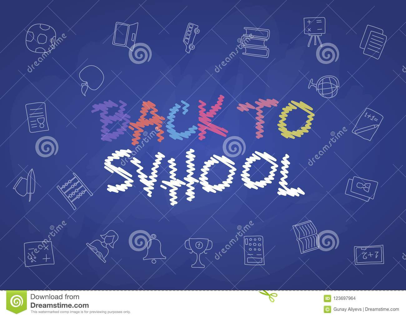 Welcome Back To School Poster With Doodles, Good For Textile