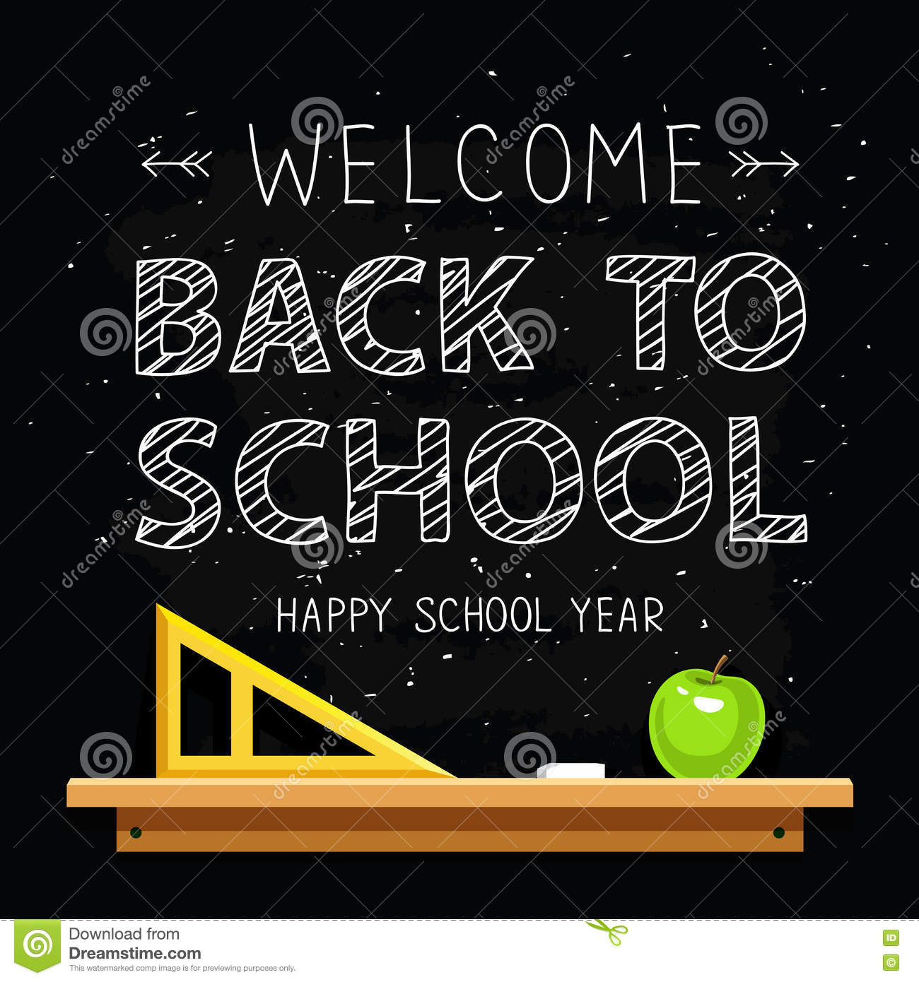 Welcome back to school stock vector. Illustration of arrow   72064787