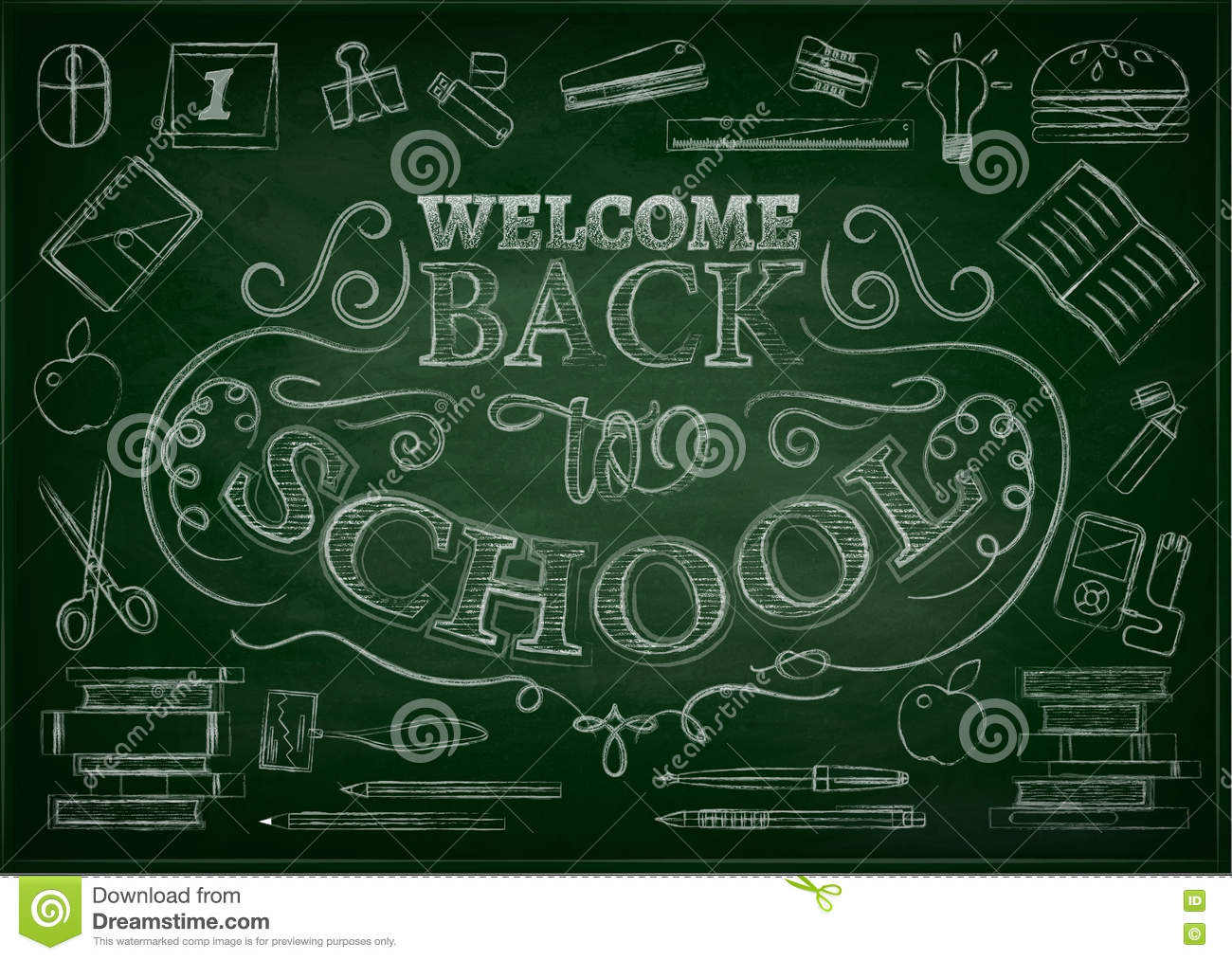 welcome back to school sale background with apple vector