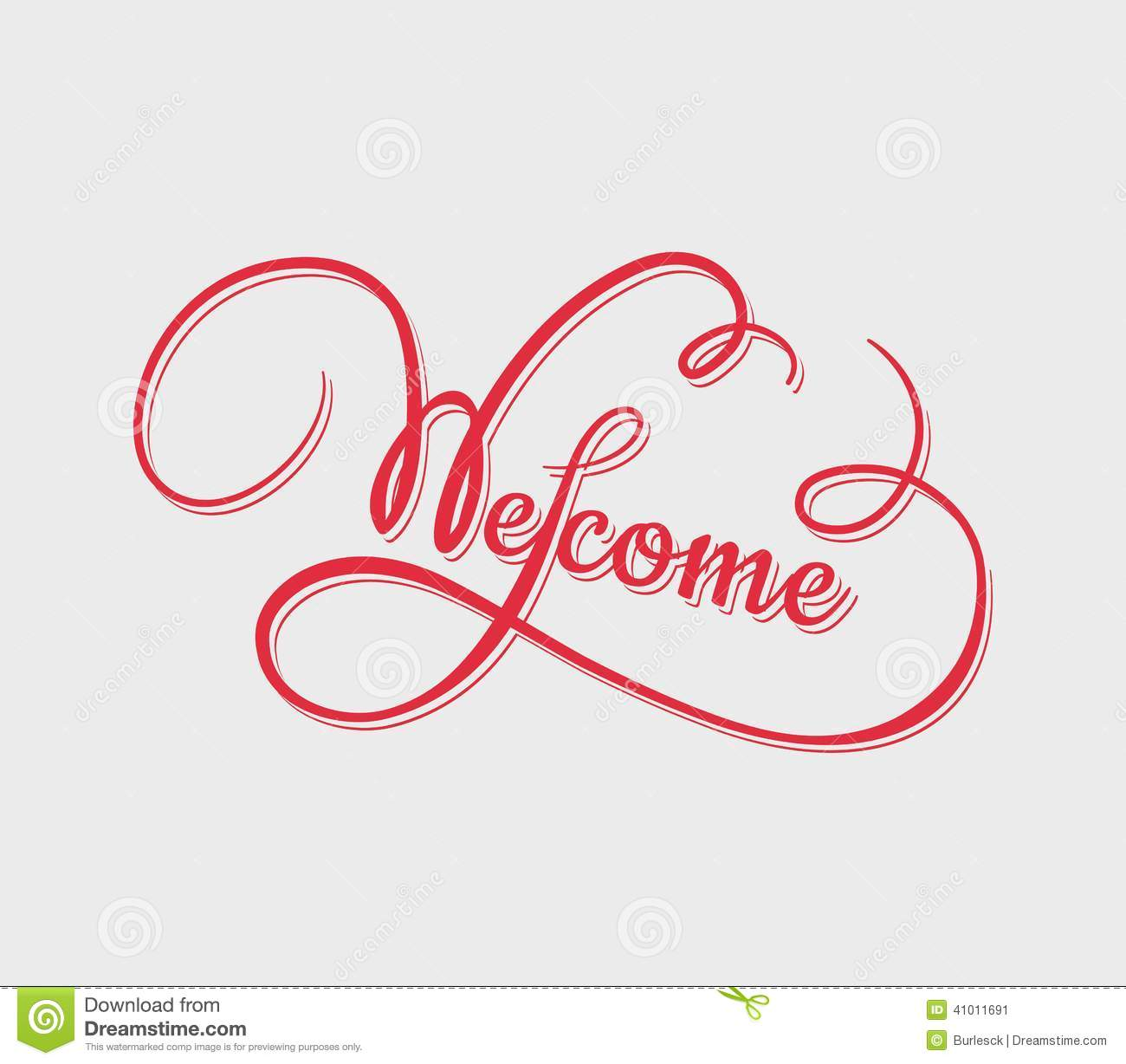 Welcome calligraphy