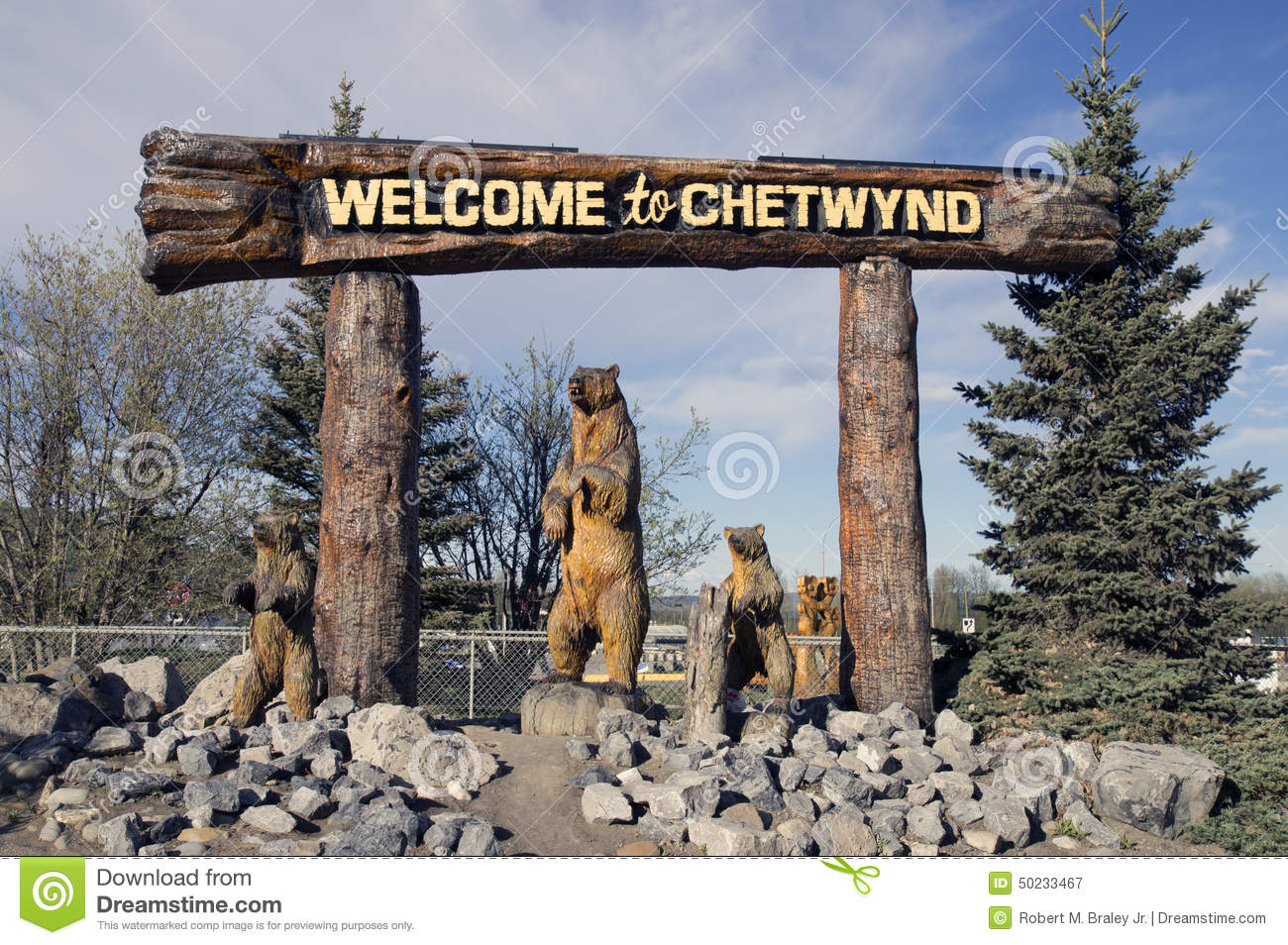 Welcome Chain Saw Carving