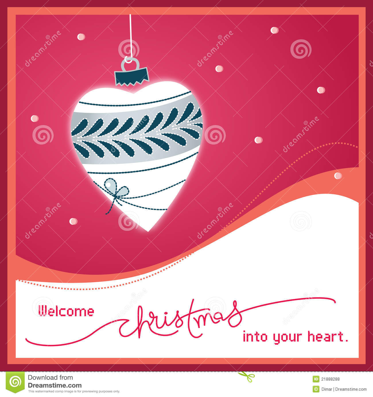 Welcome christmas into your heart stock vector