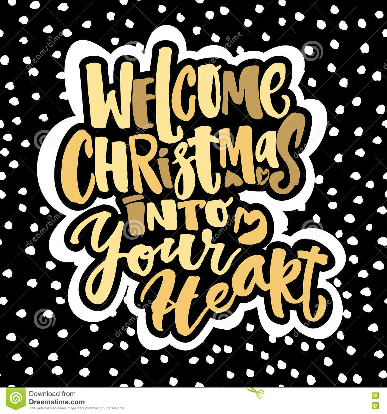 Welcome christmas into your heart stock vector illustration of download welcome christmas into your heart stock vector illustration of party greeting 80403071 m4hsunfo