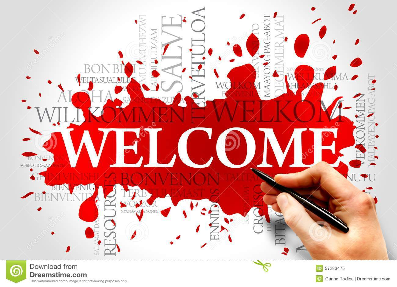 Welcome Stock Image Image Of Greetings Cloud Greek 57283475