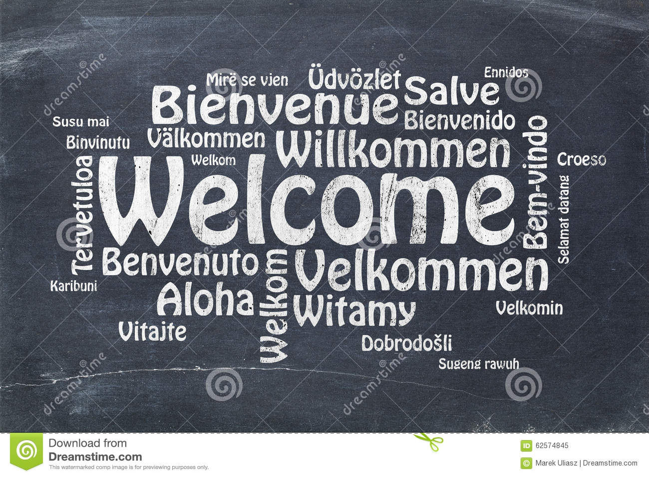 Welcome In Different Languages Stock Image Image Of Wood