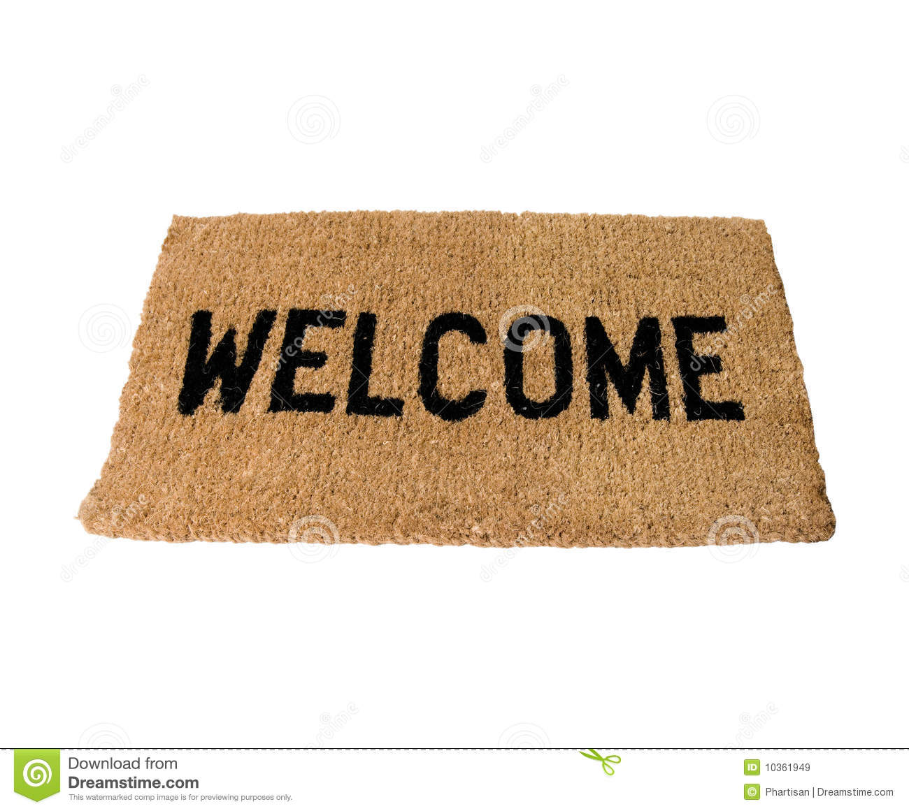 Welcome Doormat Stock Image Image Of Household Object
