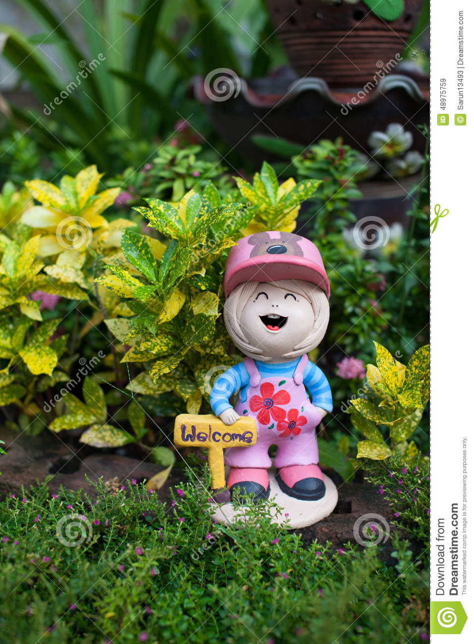 download welcome girl doll in the garden stock illustration illustration of decorate girl - The Doll In The Garden