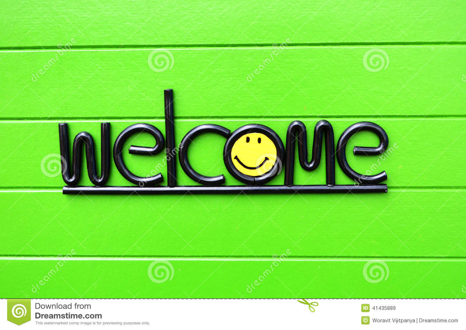 Welcome Stock Photo Image 41435889