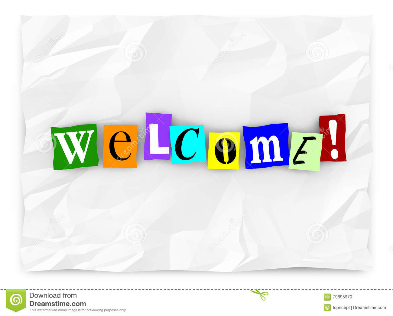 Welcome Greeting Introduction Words Letters Stock Illustration