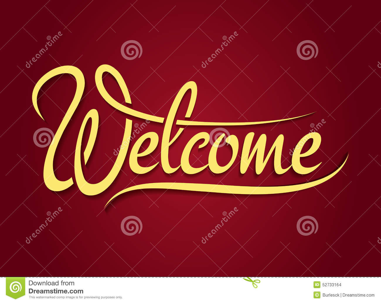 welcome hand lettering sign stock vector image 52733164